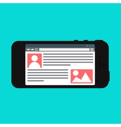 Web Template of Smartphone Site or Article Form vector