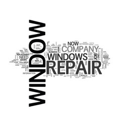 Window repair text word cloud concept vector