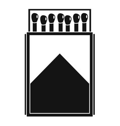 wood matchbox icon simple style vector image