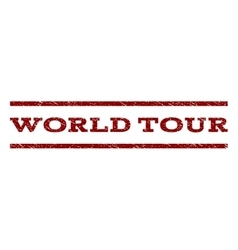 World tour watermark stamp vector