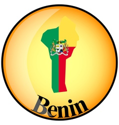 button Benin vector image vector image