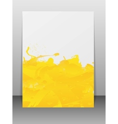 Greeting card with paint splashes vector image vector image