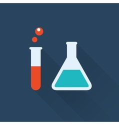 lab bottles vector image vector image