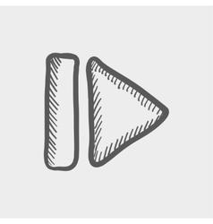 Next button sketch icon vector
