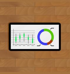 stock chart vector image