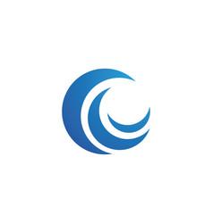 C letter wave logo template vector