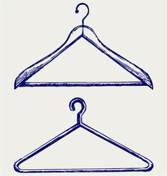 Clothes hangers vector image vector image