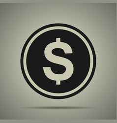 coin icon in flat style vector image vector image