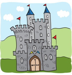 Fairytale castle kingdom cartoon style vector image
