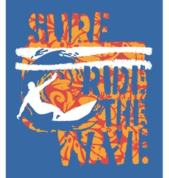 Ride the wave surf vector image vector image