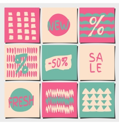 sales and shopping tags abstract designs set vector image vector image