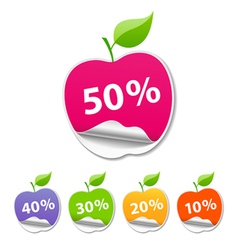 Collections Sticker apple sale price tag vector image vector image