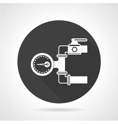 Pipeline gauge black round icon vector image vector image