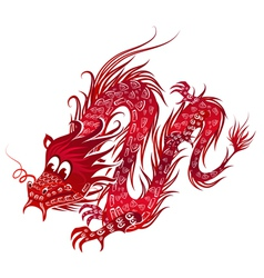 red chinese dragon vector image