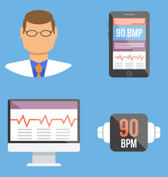 set of medical flat design icons vector image vector image