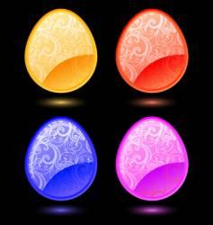 set of stylized eggs vector image