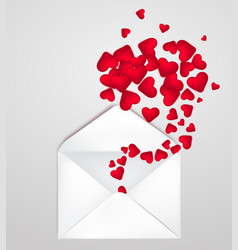 happy valentine s day envelope with realistic vector image vector image