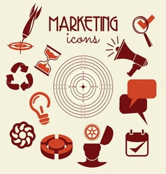 marketing icons1 resize vector image vector image