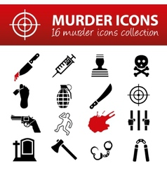 murder icons vector image