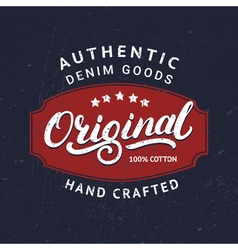 Original hand written lettering for label badge vector image