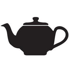 Tea pot icon vector