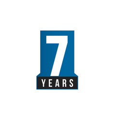 7 years anniversary icon birthday logo vector image