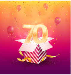 70th years anniversary design element vector
