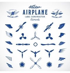 Abstract Airplane Labels or Logos vector