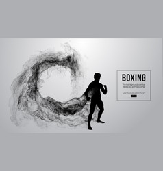 Abstract silhouette a boxer mma ufc fighter vector