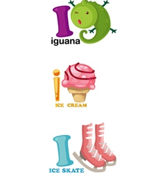 alphabet letter - I vector image