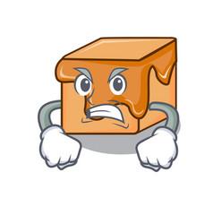angry caramel candies mascot cartoon vector image