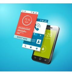 application on smartphone screen vector image
