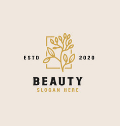 beauty flower logo template vector image