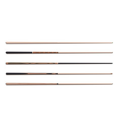 billiard cues sticks realistic collection snooker vector image