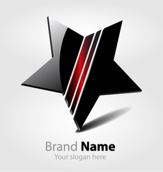 Brand black star logo vector image vector image