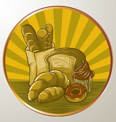 Bread logo vector