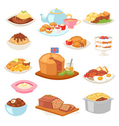 British food english breakfast meal and vector