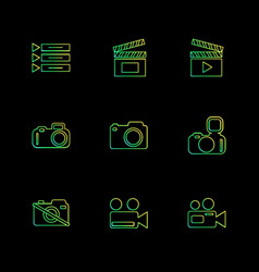 Camera recorder capture click photography vector