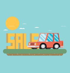 Car sale design template flat vector