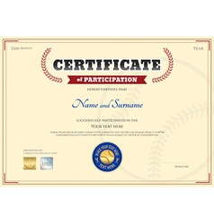 baseball certificate vector images 35