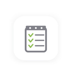 Checklist icon completed tasks vector