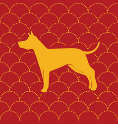 Chinese dog year seamless pattern design vector