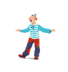 clown big top circus shapito clown with nose vector image