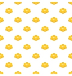 Cookie pattern cartoon style vector
