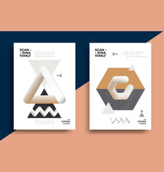 creative design poster with graphic geometric art vector image