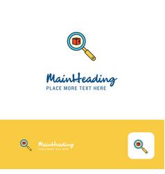 creative search item logo design flat color logo vector image