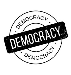 democracy rubber stamp vector image