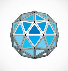 Dimensional wireframe low poly object blue vector