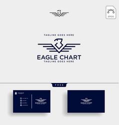 Eagle falcon bird business consulting logo vector
