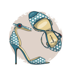 fashion sketch womens shoes vector image